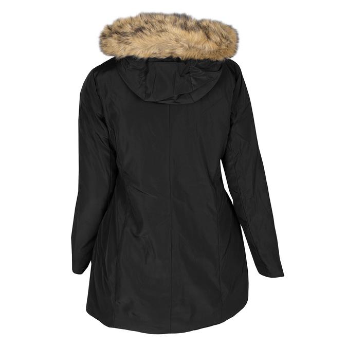 Długa kurtka damska zkapturem ifuterkiem bata, czarny, 979-6355 - 26