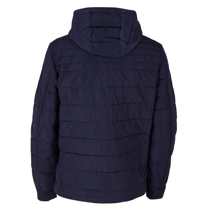 Granatowa pikowana kurtka zpomarańczowymi wykończeniami bata, niebieski, 979-9430 - 26