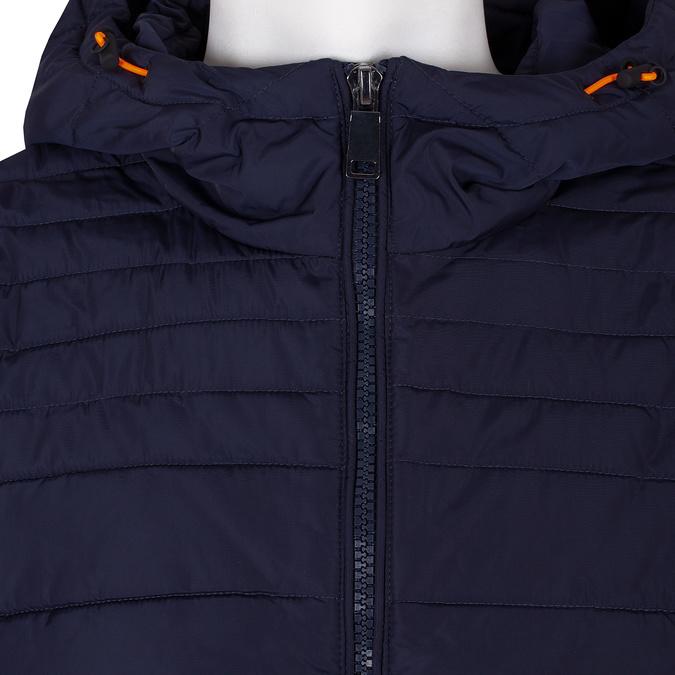 Granatowa pikowana kurtka zpomarańczowymi wykończeniami bata, niebieski, 979-9430 - 16