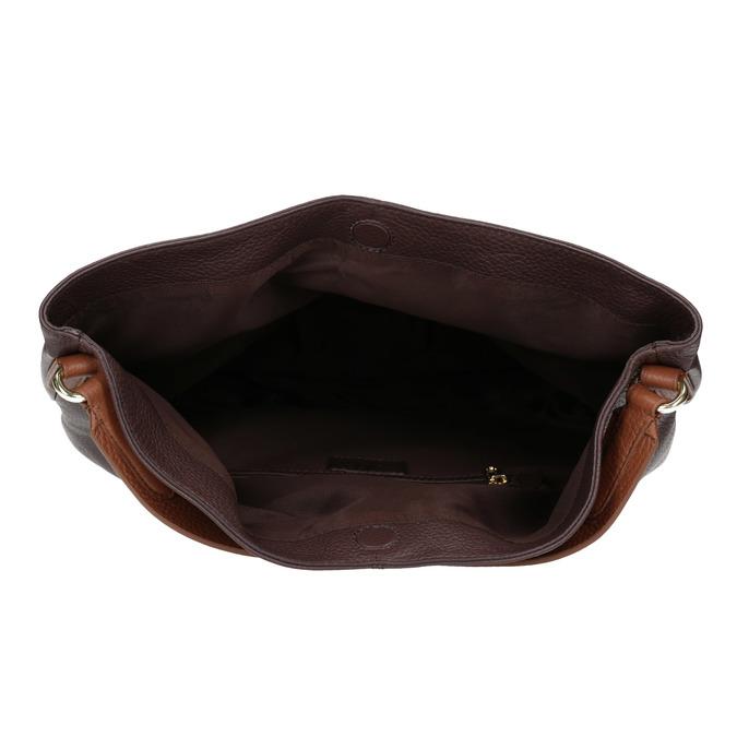 Skórzana torba damska wstylu hobo bata, brązowy, 964-4236 - 15
