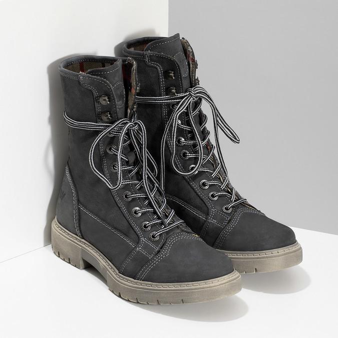 Wysokie skórzane obuwie damskie weinbrenner, szary, 596-2746 - 26