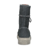 Wysokie skórzane obuwie damskie weinbrenner, szary, 596-2746 - 15