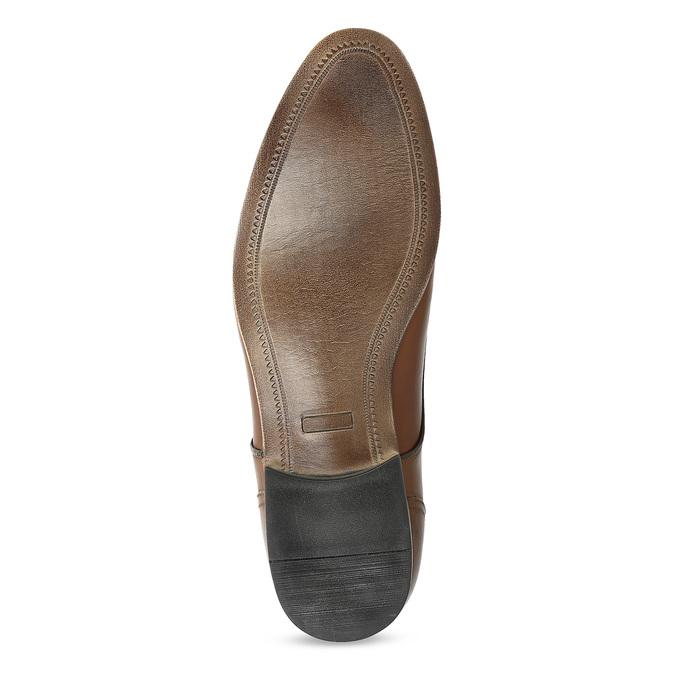 Brązowe skórzane półbuty męskie conhpol, brązowy, 826-4708 - 18