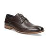 Ciemnobrązowe skórzane półbuty męskie bata, brązowy, 826-4615 - 13