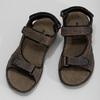 Brązowe skórzane sandały męskie na rzepy weinbrenner, 866-4631 - 16