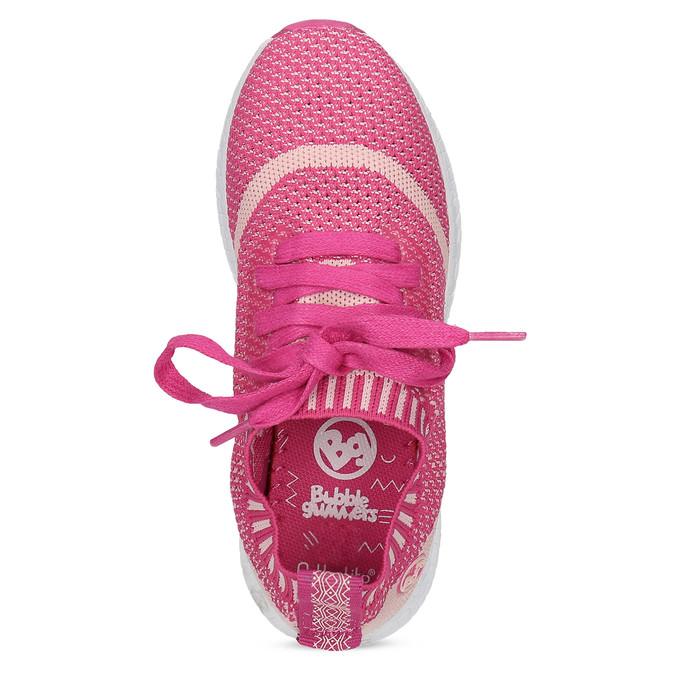 Różowe dzianinowe trampki dziewczęce, różowy, 329-5650 - 17