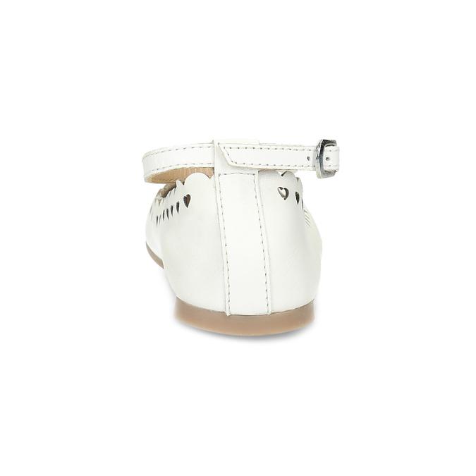 Białe skórzane baleriny dziewczęce mini-b, biały, 324-1157 - 15