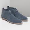Granatowe skórzane desert boots męskie bata, niebieski, 823-9655 - 26