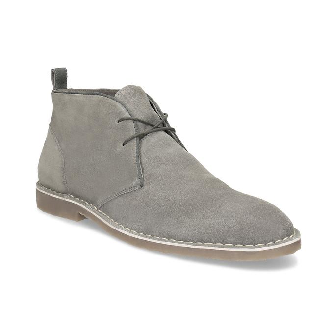 Szare skórzane obuwie męskie typu desert boots bata, szary, 823-8655 - 13