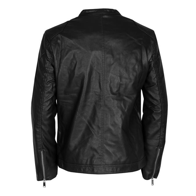 Czarna kurtka męska ze srebrnymi zamkami błyskawicznymi bata, czarny, 971-4221 - 26