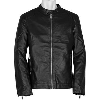 Czarna kurtka męska ze srebrnymi zamkami błyskawicznymi bata, czarny, 971-4221 - 13