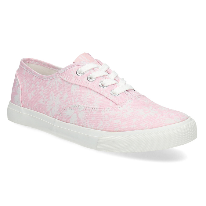 Biało-różowe trampki damskie wkwiaty north-star, różowy, 589-5502 - 13