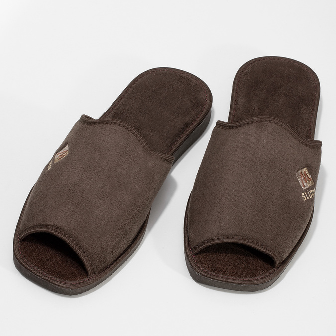 Kapcie męskie bata, brązowy, 879-4606 - 16