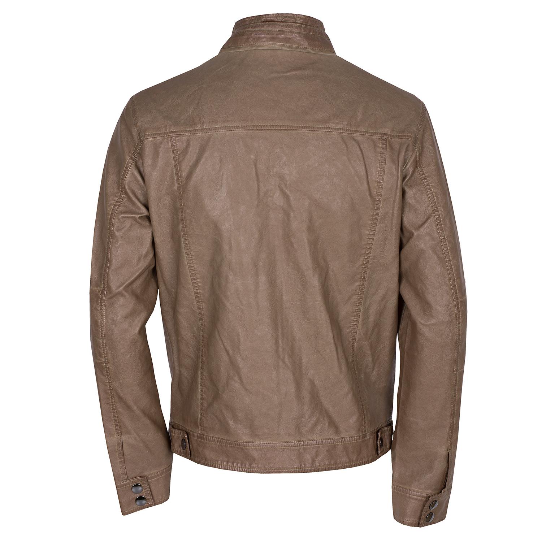 ee780aa99c5c5 Bata Brązowa kurtka męska ze skóry ekologicznej - Kurtki